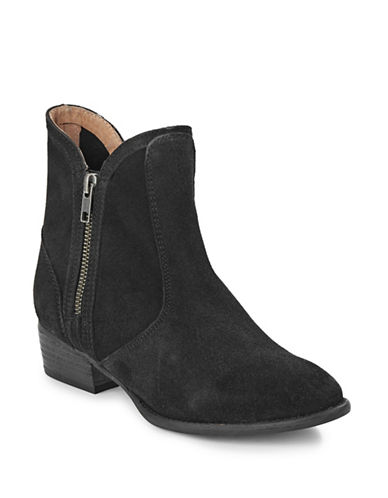 Seychelles Lucky Penny Zip Leather Boots-BLACK-7.5