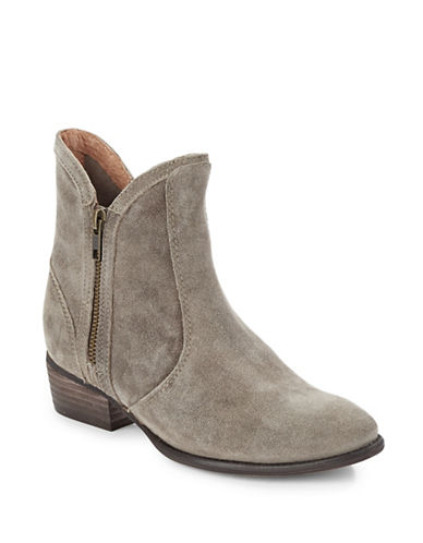 Seychelles Lucky Penny Zip Leather Boots-TAUPE-7.5