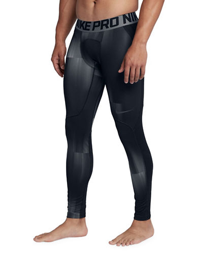 Nike Pro Hyperwarm Tights-GREY-Large