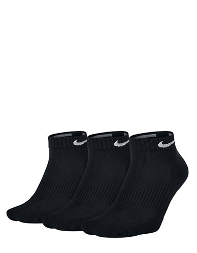 Nike Three-Pack Perfect Cushion Low Training Socks Set-BLACK-Large