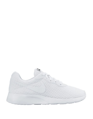 Nike Womens Tanjun Athletics Sneakers-WHITE-5