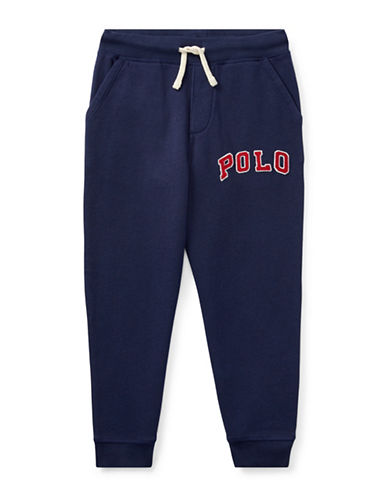 Ralph Lauren Childrenswear Featherweight Terry Jogger-NAVY-2