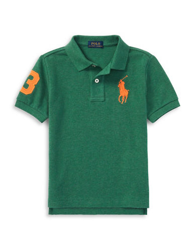 Ralph Lauren Childrenswear Cotton Logo Polo Shirt-GREEN-7
