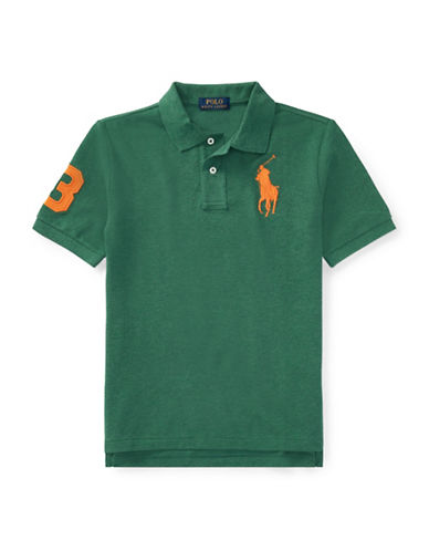 Ralph Lauren Childrenswear Cotton Logo Polo Shirt-GREEN-X-Large