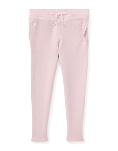 Ralph Lauren Childrenswear Girls Cotton-Blend Terry Pant-PINK-5