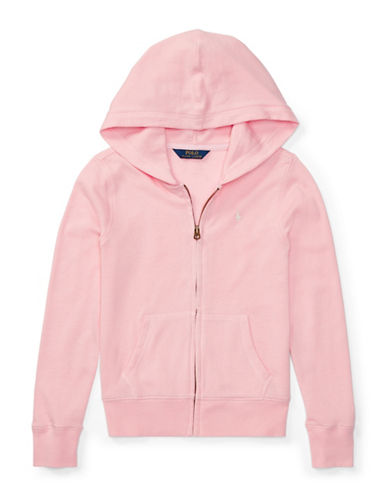 Ralph Lauren Childrenswear French Terry Hoodie-PINK-Small
