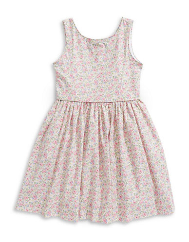 Ralph Lauren Childrenswear Cotton Poplin Dress-PINK-6X