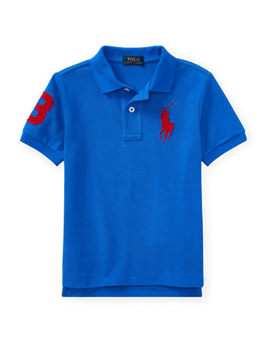 Ralph Lauren Childrenswear Cotton Logo Polo Shirt-BLUE-5