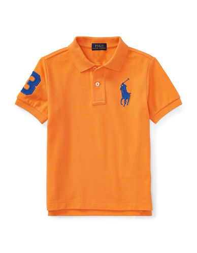Ralph Lauren Childrenswear Cotton Logo Polo Shirt-ORANGE-7