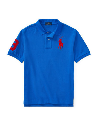 Ralph Lauren Childrenswear Cotton Logo Polo Shirt-BLUE-Medium