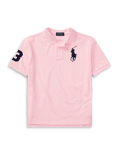 Ralph Lauren Childrenswear Cotton Logo Polo Shirt-PINK-X-Large