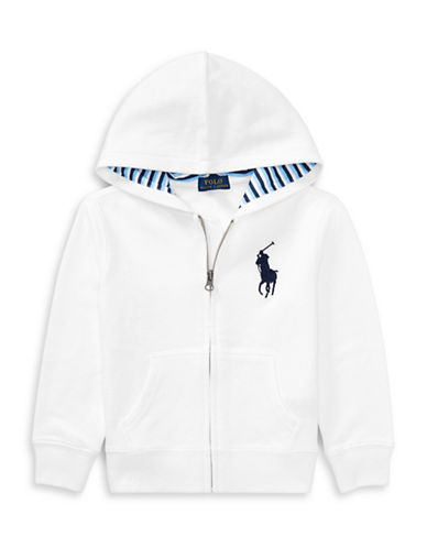 Ralph Lauren Childrenswear Cotton-Blend-Fleece Hoodie-WHITE-6