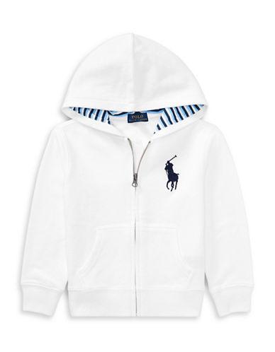 Ralph Lauren Childrenswear Cotton-Blend-Fleece Hoodie-WHITE-5