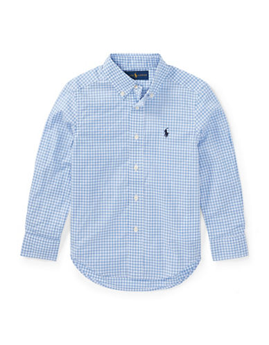 Ralph Lauren Childrenswear Gingham Stretch Cotton Sport Shirt-BLUE-5