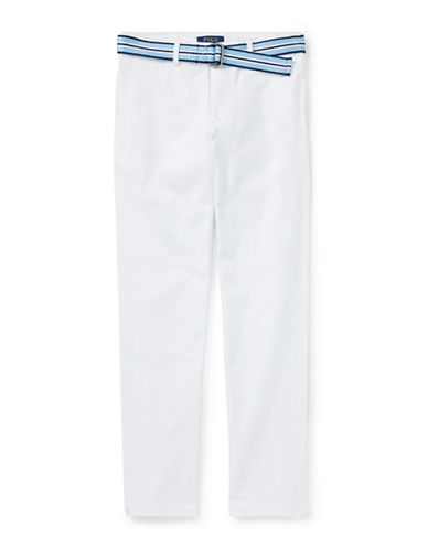 Ralph Lauren Childrenswear Stretch Chino and Belt Set-WHITE-18
