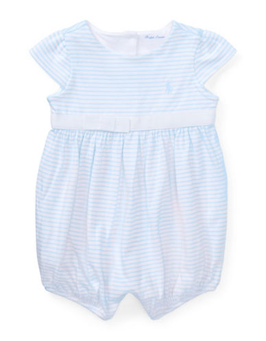 Ralph Lauren Childrenswear Striped Cotton Jersey Romper-BLUE-9 Months