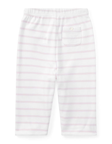 Ralph Lauren Childrenswear Striped Reversible Cotton Pants-PINK-9 Months