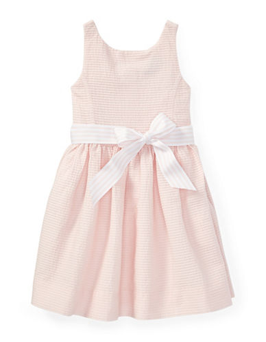 Ralph Lauren Childrenswear Pintucked Cotton Dress-PINK-6X