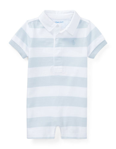 Ralph Lauren Childrenswear Striped Cotton Rugby Shortall-BLUE-6 Months