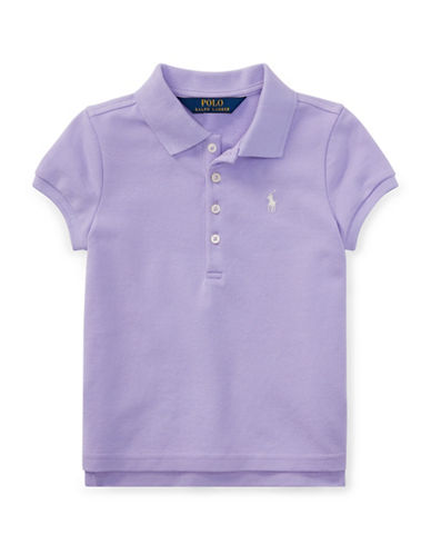 Ralph Lauren Childrenswear Short-Sleeve Stretch Mesh Polo-PURPLE-4T
