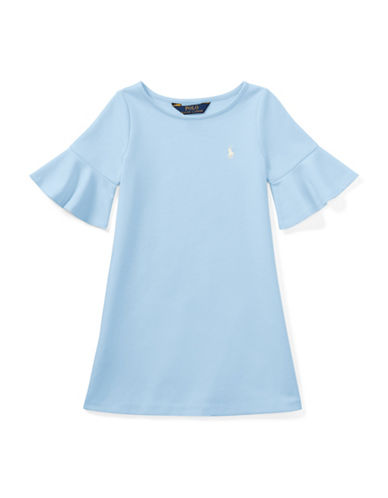 Ralph Lauren Childrenswear Ponte Bell-Sleeve Dress-BLUE-3T