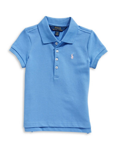 Ralph Lauren Childrenswear Short-Sleeve Stretch Mesh Polo-BRIGHT BLUE-6