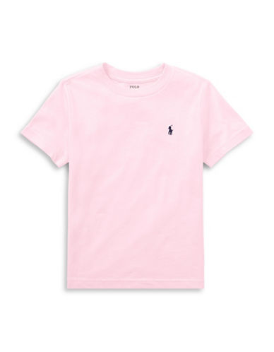 Ralph Lauren Childrenswear Crew Neck Cotton Tee-PINK-2