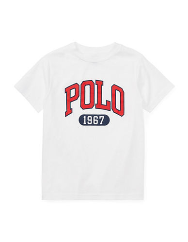 Ralph Lauren Childrenswear Graphic Cotton Jersey T-Shirt-WHITE-4