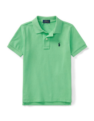 Ralph Lauren Childrenswear Cotton Mesh Polo Shirt-GREEN-7
