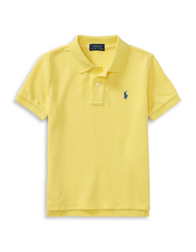 Ralph Lauren Childrenswear Cotton Mesh Polo Shirt-YELLOW-5