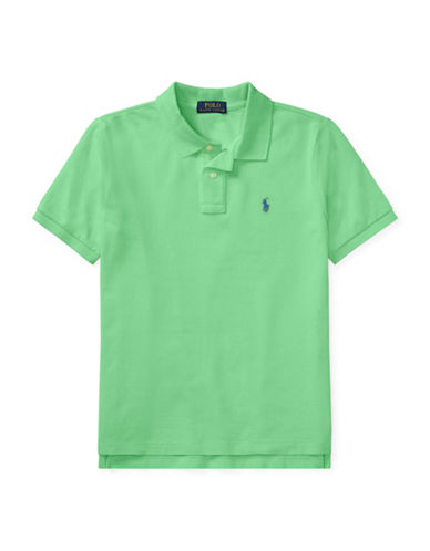 Ralph Lauren Childrenswear Cotton Mesh Polo Shirt-GREEN-Medium