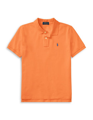 Ralph Lauren Childrenswear Cotton Mesh Polo Shirt-ORANGE-Small