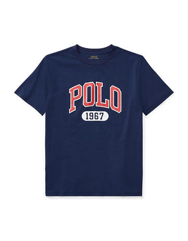 Ralph Lauren Childrenswear Graphic Cotton Jersey T-Shirt-NAVY-Large