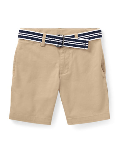 Ralph Lauren Childrenswear Slim Fit Belted Stretch Shorts-BEIGE-5