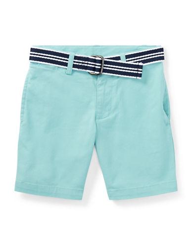 Ralph Lauren Childrenswear Slim Fit Belted Stretch Shorts-BLUE-6