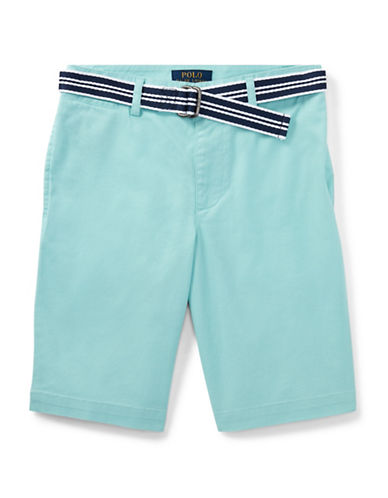 Ralph Lauren Childrenswear Stretch Chino and Belt Set-BLUE-10