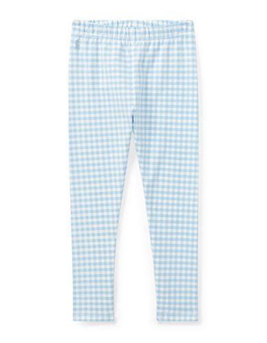 Ralph Lauren Childrenswear Gingham Jersey Leggings-BLUE-2T