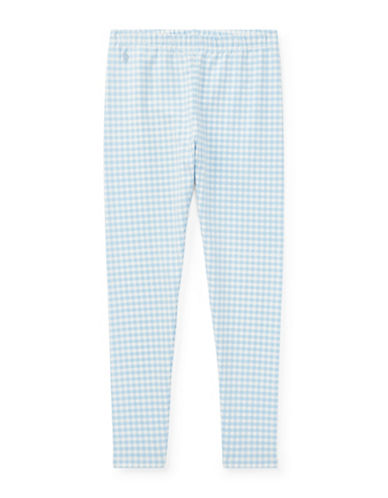 Ralph Lauren Childrenswear Gingham Jersey Leggings-BLUE-Small