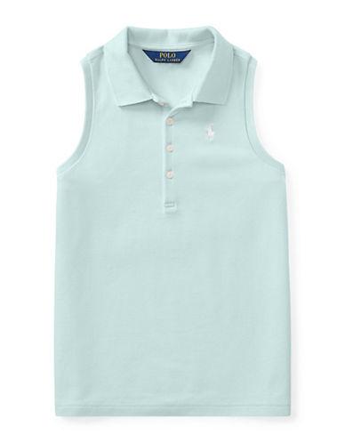 Ralph Lauren Childrenswear Stretch Mesh Sleeveless Polo-BLUE-Medium 90029526_BLUE_Medium