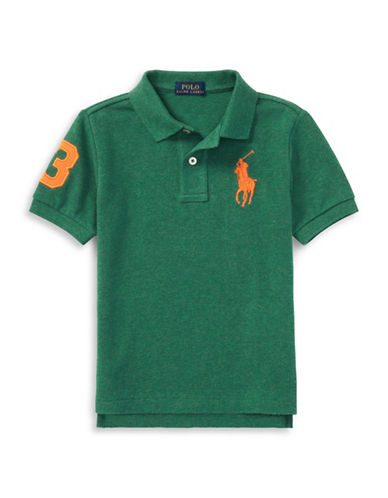 Ralph Lauren Childrenswear Cotton Logo Polo Shirt-GREEN-3