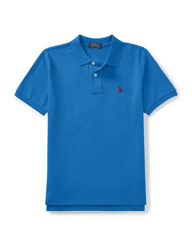 Ralph Lauren Childrenswear Cotton Mesh Polo Shirt-BLUE-Small