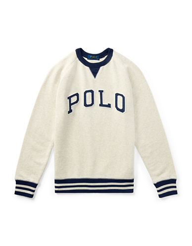 Ralph Lauren Childrenswear Cotton French Terry Sweatshirt-BEIGE-Medium