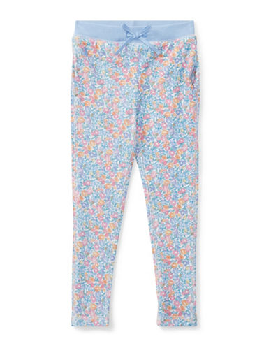 Ralph Lauren Childrenswear Floral Terry Pants-BLUE-3T