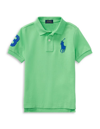 Ralph Lauren Childrenswear Cotton Logo Polo Shirt-GREEN-2
