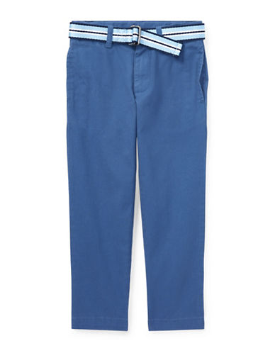 Ralph Lauren Childrenswear Belted Stretch Skinny Chino Pants-BLUE-3T