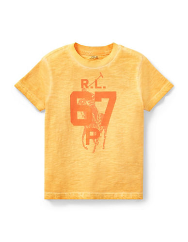 Ralph Lauren Childrenswear Graphic Cotton Jersey Tee-ORANGE-2T 89923667_ORANGE_2T