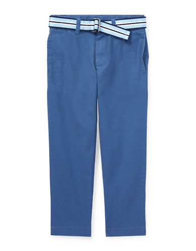 Ralph Lauren Childrenswear Belted Stretch Skinny Chino Pants-BLUE-6