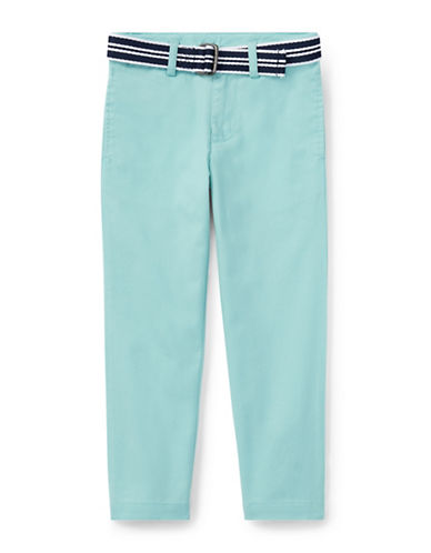 Ralph Lauren Childrenswear Belted Stretch Skinny Chino Pants-BLUE-5