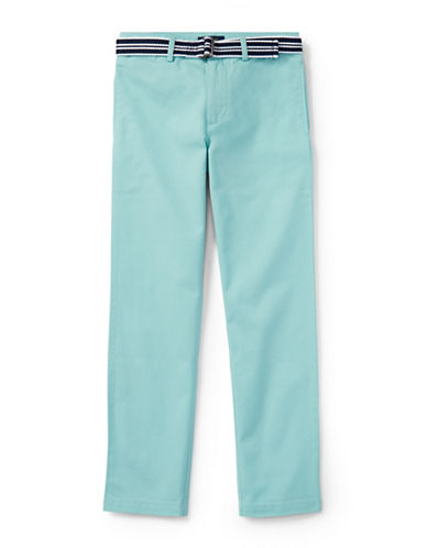 Ralph Lauren Childrenswear Stretch Chino and Belt Set-BLUE-14