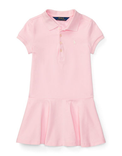 Ralph Lauren Childrenswear Girls Stretch Mesh Polo Dress-PINK-2T